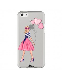 Coque Legally Blonde Love Transparente pour iPhone 5C - kateillustrate