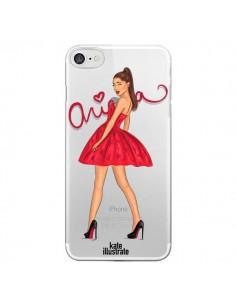 Coque Ariana Grande Chanteuse Singer Transparente pour iPhone 7 - kateillustrate