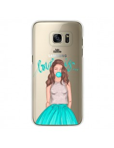 Coque Bubble Girls Tiffany Bleu Transparente pour Samsung Galaxy S7 Edge - kateillustrate