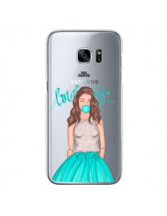 Coque Bubble Girls Tiffany Bleu Transparente pour Samsung Galaxy S7 - kateillustrate