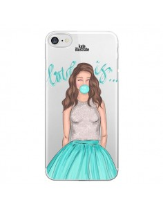 Coque Bubble Girls Tiffany Bleu Transparente pour iPhone 7 - kateillustrate