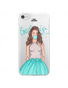 Coque Bubble Girls Tiffany Bleu Transparente pour iPhone 7 - kateillustrate