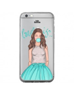 Coque Bubble Girls Tiffany Bleu Transparente pour iPhone 6 Plus et 6S Plus - kateillustrate