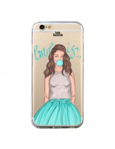 Coque Bubble Girls Tiffany Bleu Transparente pour iPhone 6 et 6S - kateillustrate