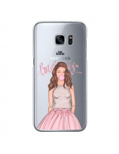 Coque Bubble Girl Tiffany Rose Transparente pour Samsung Galaxy S7 - kateillustrate
