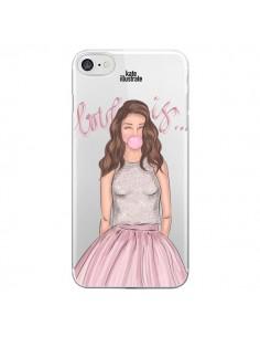 Coque Bubble Girl Tiffany Rose Transparente pour iPhone 7 - kateillustrate