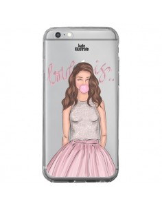 Coque Bubble Girl Tiffany Rose Transparente pour iPhone 6 Plus et 6S Plus - kateillustrate