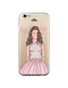Coque Bubble Girl Tiffany Rose Transparente pour iPhone 6 et 6S - kateillustrate