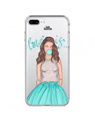 Coque Bubble Girls Tiffany Bleu Transparente pour iPhone 7 Plus - kateillustrate
