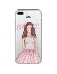 Coque Bubble Girl Tiffany Rose Transparente pour iPhone 7 Plus - kateillustrate