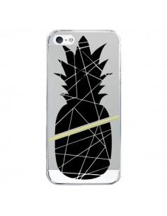 Coque Ananas Noir Transparente pour iPhone 5/5S et SE - Koura-Rosy Kane