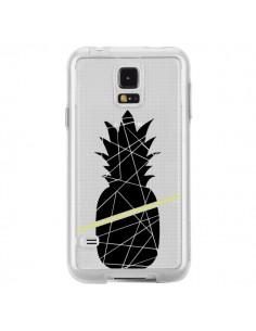 Coque Ananas Noir Transparente pour Samsung Galaxy S5 - Koura-Rosy Kane