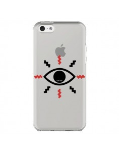 Coque Eye I See You Oeil Transparente pour iPhone 5C - Koura-Rosy Kane