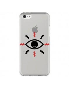 Coque iPhone 5C Eye I See You Oeil Transparente - Koura-Rosy Kane