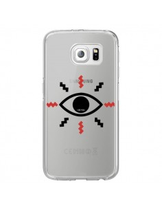 Coque Eye I See You Oeil Transparente pour Samsung Galaxy S6 Edge - Koura-Rosy Kane