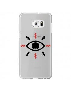 Coque Eye I See You Oeil Transparente pour Samsung Galaxy S6 Edge Plus - Koura-Rosy Kane