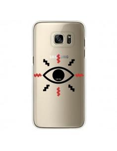 Coque Eye I See You Oeil Transparente pour Samsung Galaxy S7 Edge - Koura-Rosy Kane