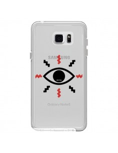 Coque Eye I See You Oeil Transparente pour Samsung Galaxy Note 5 - Koura-Rosy Kane