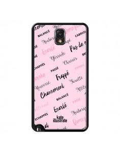 Coque Ballerina Ballerine Mots pour Samsung Galaxy Note III - kateillustrate