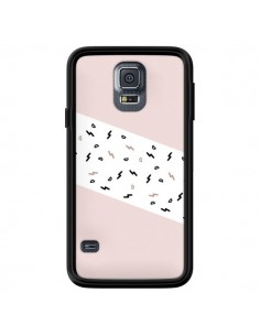 Coque Festive Pattern Rose pour Samsung Galaxy S5 - Koura-Rosy Kane