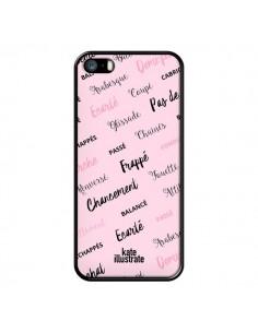 Coque Ballerina Ballerine Mots pour iPhone 5/5S et SE - kateillustrate