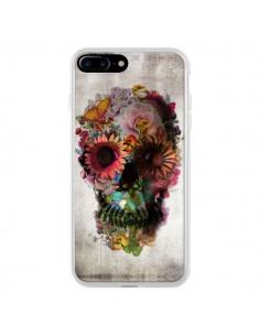 Coque iPhone 7 Plus et 8 Plus Skull Flower Tête de Mort - Ali Gulec