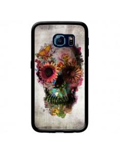 Coque Skull Flower Tête de Mort pour Samsung Galaxy S6 Edge - Ali Gulec