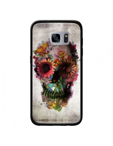 Coque Skull Flower Tête de Mort pour Samsung Galaxy S7 - Ali Gulec