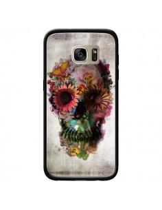Coque Skull Flower Tête de Mort pour Samsung Galaxy S7 Edge - Ali Gulec