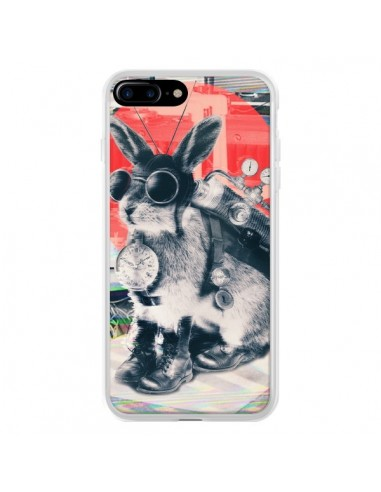 Coque iPhone 7 Plus et 8 Plus Lapin Time Traveller - Ali Gulec