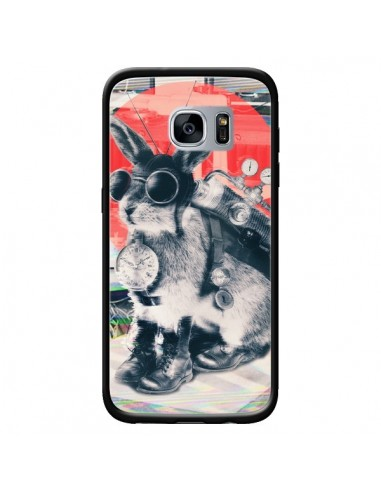 Coque Lapin Time Traveller pour Samsung Galaxy S7 - Ali Gulec
