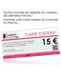 Carte Cadeau de 15€