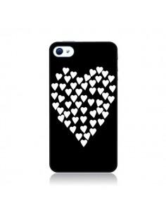 Coque Coeur en coeurs blancs pour iPhone 4 et 4S