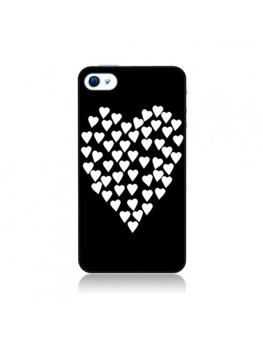 coque coeur en coeurs blancs pour iphone 4 et 4s. Black Bedroom Furniture Sets. Home Design Ideas