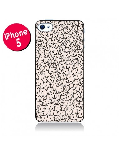 Coque A lot of cats chat pour iPhone 5 - Santiago Taberna