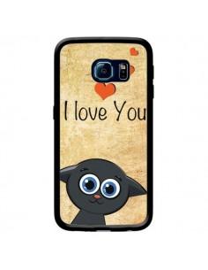 Coque Cute Cat pour Samsung Galaxy S6 Edge - Nico