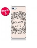 Coque Because Cats chat pour iPhone 5 - Santiago Taberna