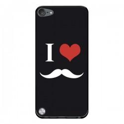 Coque I Love Moustache pour iPod Touch 5/6 et 7 - Nico