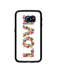 Coque Love Fleurs pour Samsung Galaxy S6 Edge - Nico