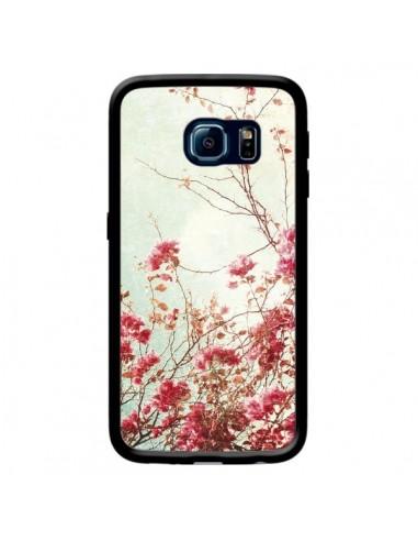 Coque Fleur Vintage Rose pour Samsung Galaxy S6 Edge - Nico