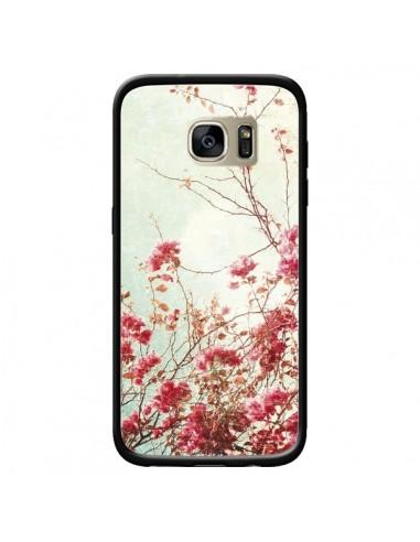 Coque Fleur Vintage Rose pour Samsung Galaxy S7 Edge - Nico