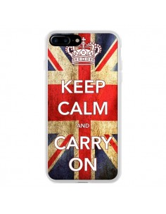 Coque iPhone 7 Plus et 8 Plus Keep Calm and Carry On - Nico