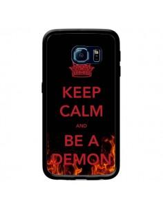 Coque Keep Calm and Be A Demon pour Samsung Galaxy S6 Edge - Nico