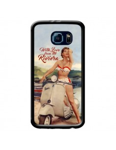 Coque Pin Up With Love From the Riviera Vespa Vintage pour Samsung Galaxy S6 - Nico