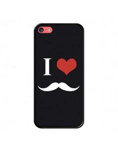 Coque iPhone 5C I Love Moustache - Nico