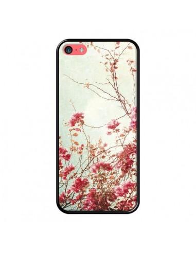 Coque Fleur Vintage Rose pour iPhone 5C - Nico
