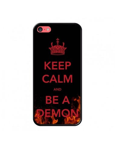 Coque iPhone 5C Keep Calm and Be A Demon - Nico