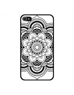 Coque Mandala Noir Azteque pour iPhone 4 et 4S - Nico
