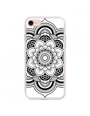 Coque iPhone 7/8 et SE 2020 Mandala Noir Azteque - Nico