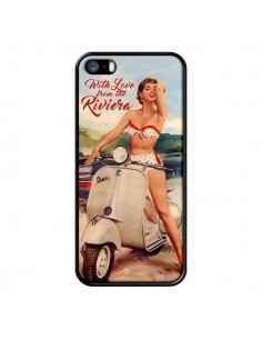 Coque Pin Up With Love From the Riviera Vespa Vintage pour iPhone 5/5S et SE - Nico